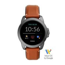 Smartwatch Uomo FOSSIL FTW4055 Vera Pelle Marrone NEW Collection 2020 GEN 5E