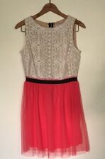 Speechless Coral & Cream Lace Dress For Girls/ Juniors  Size 7