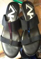 Anne Klein wedge black sport sandal size 8.5M
