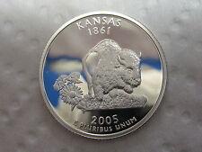 2005 S Kansas State Quarter - Gem Proof Deep Cameo - 90% Silver