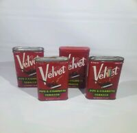 Lot 4 Vintage Velvet Pipe and Cigarette Tobacco Tins Liggett & Myers Tobacco Co