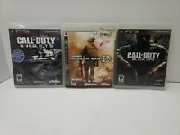 Lot of 3 Call of Duty PlayStation 3 PS3 Games Bundle Black Ops, Ghosts, Warfare