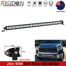 Single Row 90W 20inch Slim LED Light Bar For Jeep Offroad SUV Truck Spot Driving