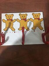 Handmade Coat Rack With Painted Bears
