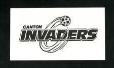 Canton Invaders--1992-93 Pocket Schedule--NPSL