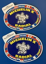 2 Michelin Radial X tires GLOSSY decal sticker Auto Semi Tractor Trailer Truck