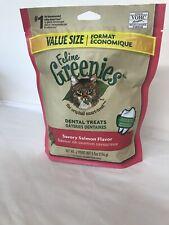 Feline Greenies Dental Cat Treats, Savory Salmon Flavor