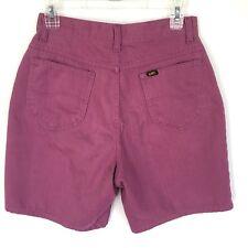 Vtg Lee Purple Shorts Size 13 Waist 26 High Waist Mom USA Union Made