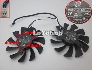 For MSI GeForce GTX1050Ti Graphics Fan Dual Fan 2Pin HA8010H12F-Z 12V 0.5A