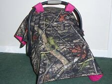 **TRUE TIMBER** Camo w/Hot Pink Handmade Baby Infant Car Seat Canopy-Cover