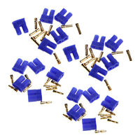 10 Pairs EC2 2.0mm Lipo RC Battery Connector Gold Bullet Banana Plug Male&Female