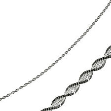 "3.4mm Two Tone Sparkle Chain Anklet 9"" Ruthenium Plate 925 Sterling Silver"