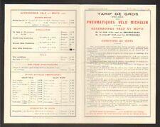 """CLERMONT-FERRAND (63) USINE de PNEUS ,TARIFS de PNEUS VELO """"MICHELIN & Cie"""" 1925"""