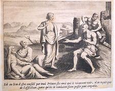 Gravure Etching Kupferstich Bible de Royaumont Sébastien Leclerc Job