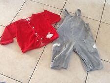 ensemble Bebe gris et rouge 74 1 an
