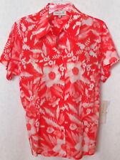 NWT Jones Plus Size 1X Shirt Top Short Sleeve Coral