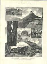 1890 Sketches In Saxon Switzerland Above Dresden