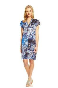 Women's Damsel in a Dress Satellite Print Straight Dress - UK 12 -  Ink Blue