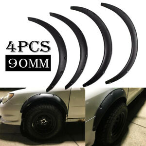 """4Pcs 3.5"""" 90mm Flexible Car Fender Flares Extra Wide Body Wheel Arches Universal"""