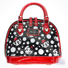 Disney Parks Boutique Minnie Mouse Faces Dots Bowling Bag Purse Handbag Satchel