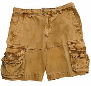 Mens Polo Ralph Lauren Brown Tactical Drawstring Shorts Size 36 Cargo Pockets