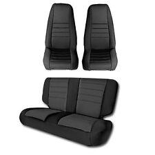 1991-1995 Jeep Wrangler Custom Neoprene Front & Rear Seat Covers in Black