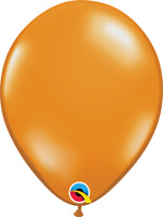 "11"" HELIUM QUALITY JEWEL LATEX BALLOONS MANDARIN ORANGE PACK OF 100 QUALATEX ..."