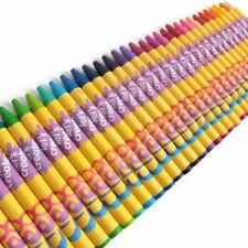 36x WAX CRAYONS Assorted Colours Non-Toxic Pencil Set Children/Kids Colouring