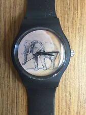 MAY28TH Elephant Watch with Black Band NEW with Tag!