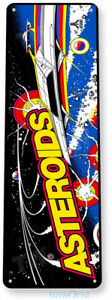 Asteroids Arcade Sign, Classic Arcade Game Marquee, Game Room Tin Sign A225