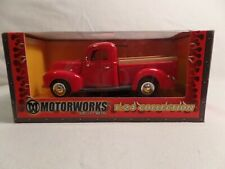NEW IN BOX MOTORWORKS 1940 FORD PICK UP RED 1:24 SCALE REPLICA DIE CAST METAL