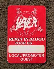 *Slayer - Reign In Blood Tour 86 Satin Pass | Heavy Metal | Starliner | Thrash*