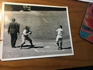 Original 6/6 1938 LOU GEHRIG Photo Picture playing 2000th consecutive Game ACME