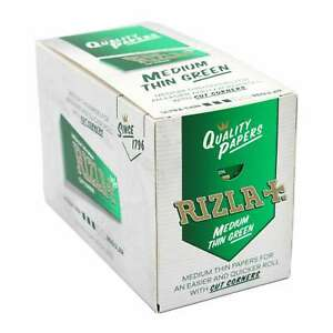 RIZLA Green Std Rolling Paper 100 Booklets in Box