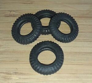 Set of 4 Britains 24mm O/D Hollow Fit Military Reproduction Tyres