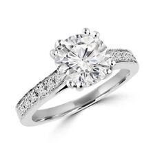 0.76 Ct Real Diamond Wedding Ring Solid 950 Platinum Women Rings 6 7 8/2