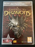 Farewell to Dragons PC Game DVD ROM 2012 Role Playing Game