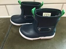 Toddler boys or girls Sperry rain boots size 5, blue