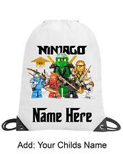 Ninjago Personalised Boy Girl School Gym Swimming PE Nursery Drawstring Bag Gift