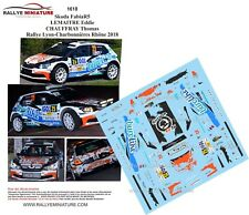 DECALS 1/43 REF 1618 SKODA FABIA R5 LEMAITRE RALLYE LYON CHARBONNIERES 2018