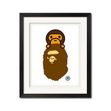 Bape Baby Milo x A Bathing Ape Urban Poster Print