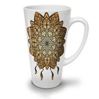 Mandala Yoga NEW White Tea Coffee Latte Mug 12 17 oz | Wellcoda