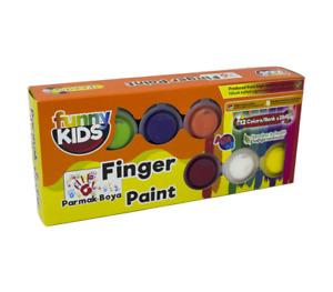 Funny Kids Farben Set für Kinder   Finger Paint  Malfarben   12 Farben x 25 ml