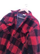 Mens Rothco Buffalo Lined Sherpa Plaid Flannel Shirt Jacket Winter Sz XL
