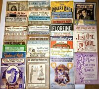 LOT of 37pc Large Format Sheet Music Waltz Song Antique Vtg 2.7 LBS Piano NICE