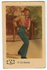 1960s Swedish Film Star Card Bilder A #71 US Western Bronco Actor Ty Hardin
