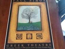 Emek Paul Simon Greek La 06 poster mint condition s/n of 100 copies Avett Bros