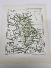 Map of ANTRIM 1923 Geographia Print , Carrickfergus Castle , River Lagan Belfast