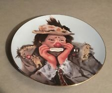 "Collector 8.5"" Plate ""Why Me"" By Charlotte Kelly 1983 Flambro Decorative New"