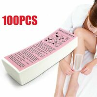 100pcs Depilatory Paper Waxing Strips Non Woven for Legs Body Hair Removal Wax